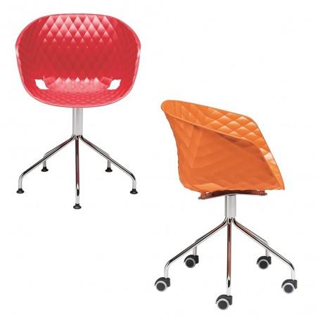 MO Uni-Ka IV. Fix vagy görgős forgatható fémvázas tárgyaló szék