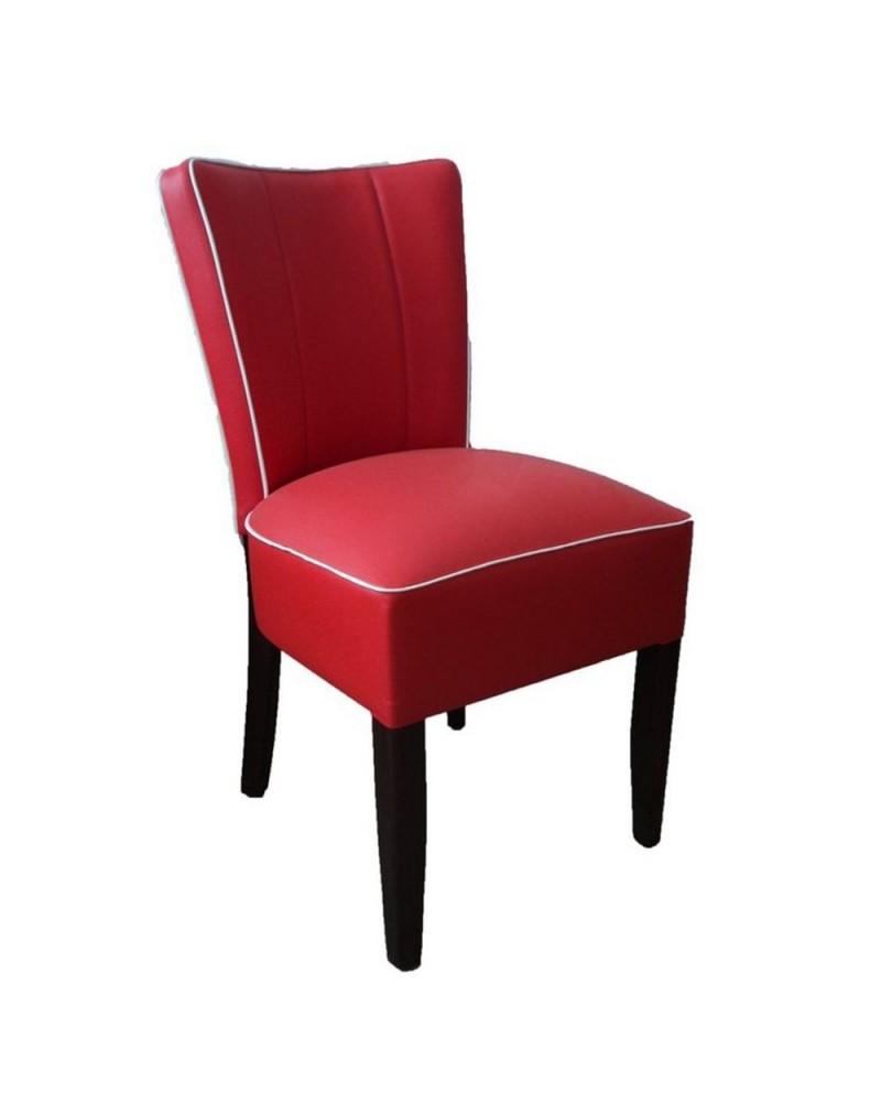 Szék MC Emma - USA style, fa szék egyedi kárpitozással, pácolással