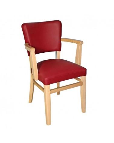 MC Lily II. karfás fa szék egyedi kárpitozással, pácolással