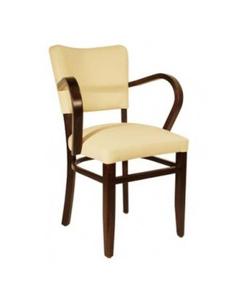 MC Lily I. karfás fa szék egyedi kárpitozással, pácolással