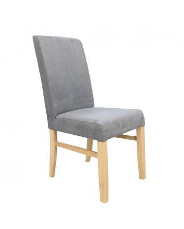MC Emily fa szék egyedi kárpitozással, pácolással