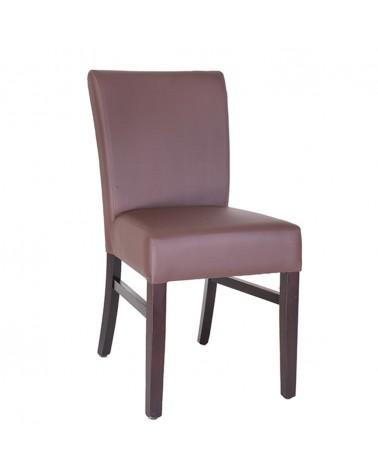MC Eldorado fa szék egyedi kárpitozással, pácolással