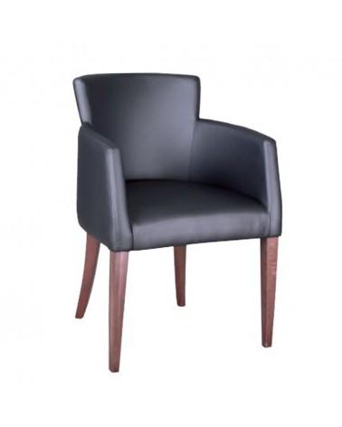 MC Adam karfás fa szék egyedi kárpitozással, pácolással