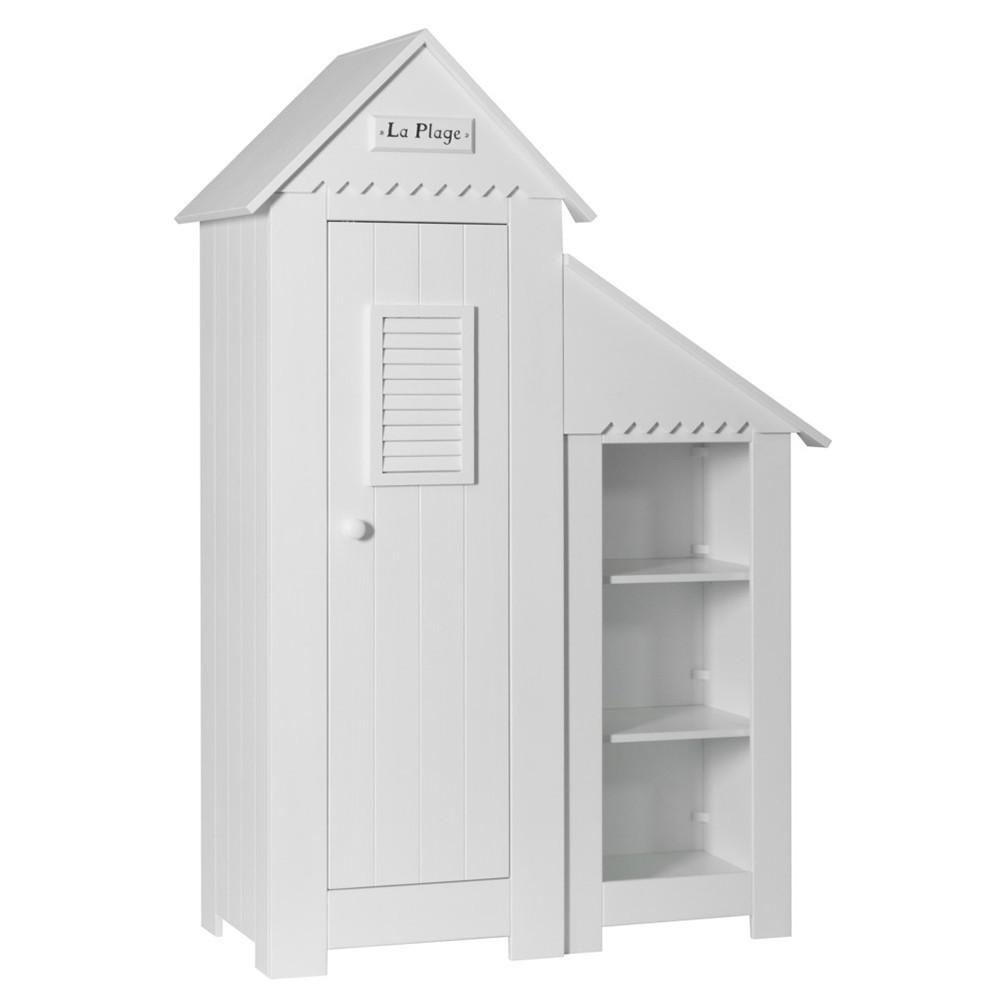 PI Marsylia 1 ajtós szekrény könyvespolccal gyerekbútor fehér vagy vanília színben