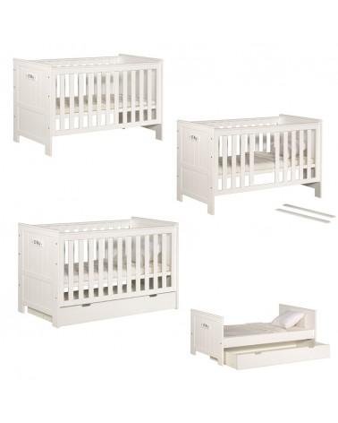 Gyerekbútorok PI Blanco 140 x 70 cm átalakítható gyerekágy