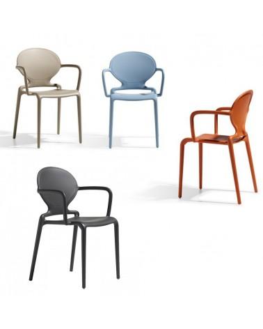 Szék SC Gio karfás műanyag kültéri szék