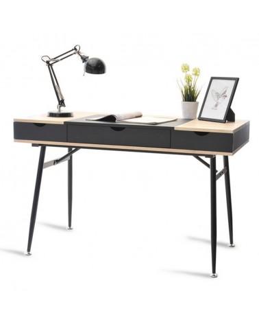 Íróasztalok, irodai asztalok MB Boden íróasztal fekete - sonoma tölgy színben