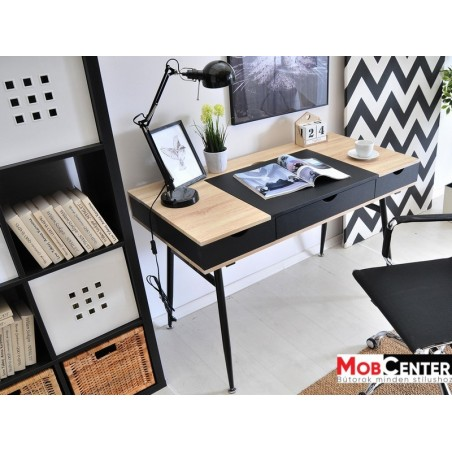 MB Boden íróasztal fekete - sonoma tölgy színben