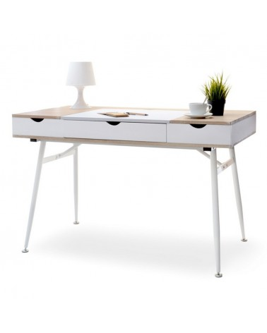 MB Boden íróasztal fehér - sonoma tölgy színben
