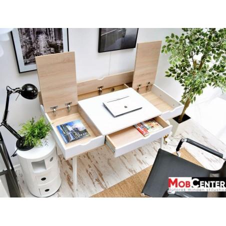 Íróasztalok, irodai asztalok MB Boden íróasztal fehér - sonoma tölgy színben