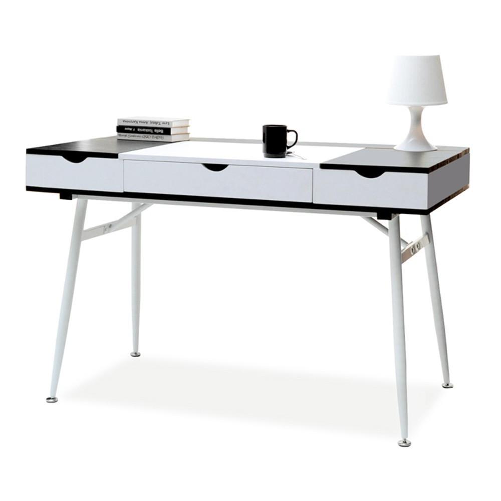 MB Boden íróasztal fehér - fekete színben