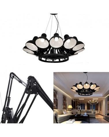 KH Replika Spider 12 ágú fekete függeszték design lámpa