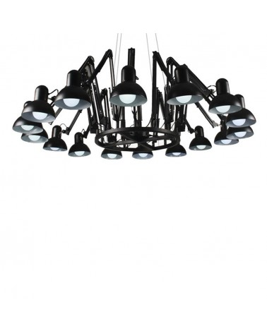 KH Replika Spider 16 ágú fekete függeszték design lámpa