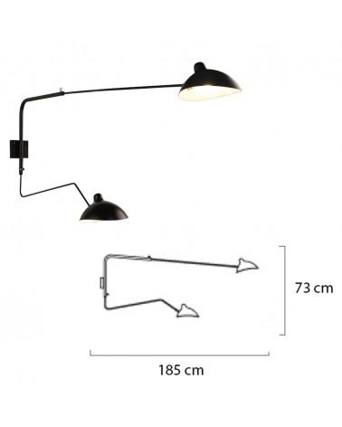 KH Replika Raven fali design lámpa