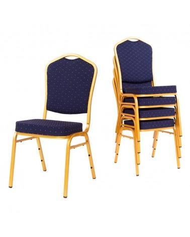 MT Acélvázas, erősített minőségi bankett szék kék színben