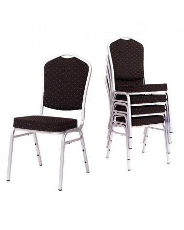 MT Acélvázas, erősített minőségi bankett szék ezüst-kék színben
