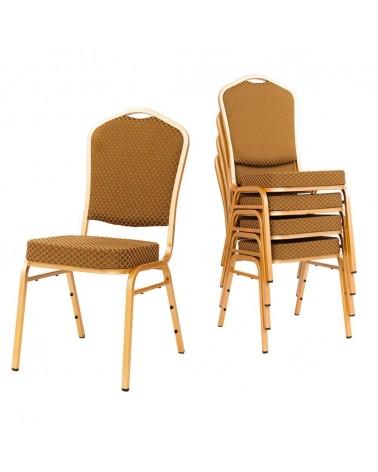 Konferencia és bankett székek MT Acélvázas, erősített minőségi bankett szék arany színben