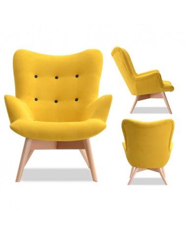 DO Flori sárga minőségi fotel